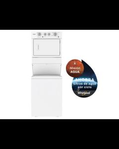 Torre de lavado de 44 libras, eléctrica, color blanco. Whirlpool 7MWET4027HW.
