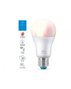 Bombillo LED multicolor inteligente con WiFi, de 60watts,  compatible con Alexa y Google Assistant.