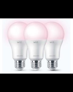 Paquete de 3 Bombillo LED multicolor inteligente WiFi, de 60watts,  compatible con Alexa y Google As