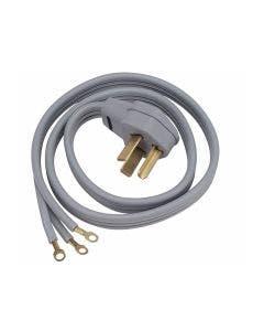 Cable universal de alimentación de corriente 220V para secadoras y estufas eléctricas, 6' de largo.