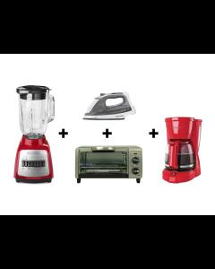 Black+Decker, CBBD1722, Combo de licuadora, plancha, cafetera y horno