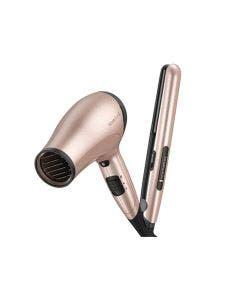 Remington, D3015S1520F, Combo alisadora y secadora de cabello, Rose gold