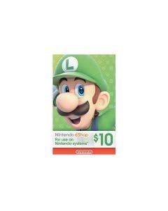 Tarjeta Nintendo Eshop de $10