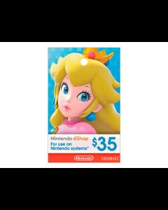 Tarjeta Nintendo Eshop de $35