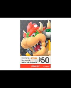 Tarjeta Nintendo Eshop de $50