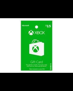 Tarjeta Xbox Live de $15