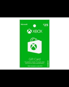 Tarjeta Xbox Live de $25
