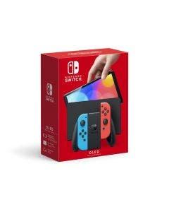 Consola Nintendo Switch + Control Joy-Con Neon Red y Neon Blue OLED