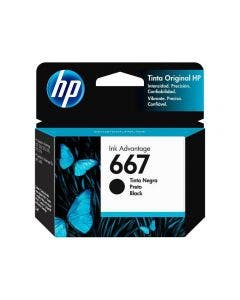 Cartucho de Tinta HP 667B Negra Ink Advantage para Impresoras 2375, 2775,1275