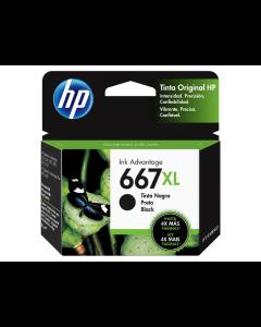 Cartucho de Tinta HP 667BXL Ink XL Negro para Impresoras 2375, 2775,1275