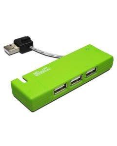 KlipX Green 4 Port portable USB Hub 2.0