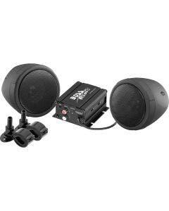 Kit de audio para motocicleta, 600 Watts PMPO. Bocinas  y amplificador resistentes al agua y al polv