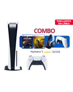 Combo de consola PS5 estandar con control Dual Sense y dos juegos