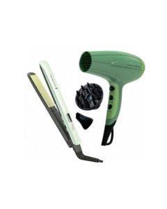 Remington, S9960D5216, Combo alisadora secador de aguacate, Color verde