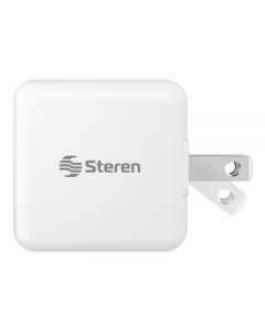 Steren, Cargador USB de Pared, 2.1 AMP (Blanco)