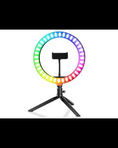 """Vivitar, Aro de luz de 8"""" de colores con control remoto -Negro-"""