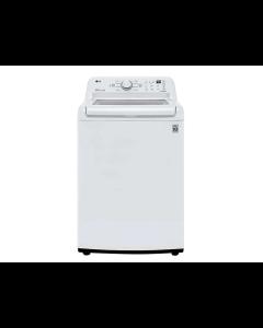 Lavadora de ropa, 46 libras, motor Inverter Direct Drive y Smart ThinQ, LG WT21WT6HKA.