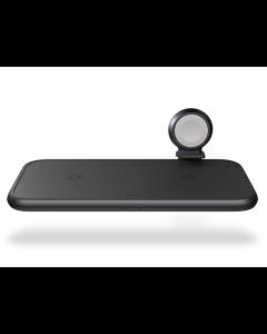 Zens, Cargador de aluminio 4 en 1 con carga inalámbrica y cable de Apple Watch, 45W -Negro-