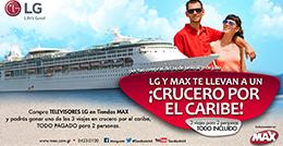 LG y Max te llevan a un ¡Crucero por el caribe!