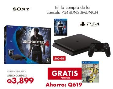 PS4 + Uncharted + FIFA 17