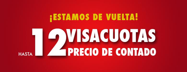 Estamos de vuelta - 12 Visacuotas precio de contado